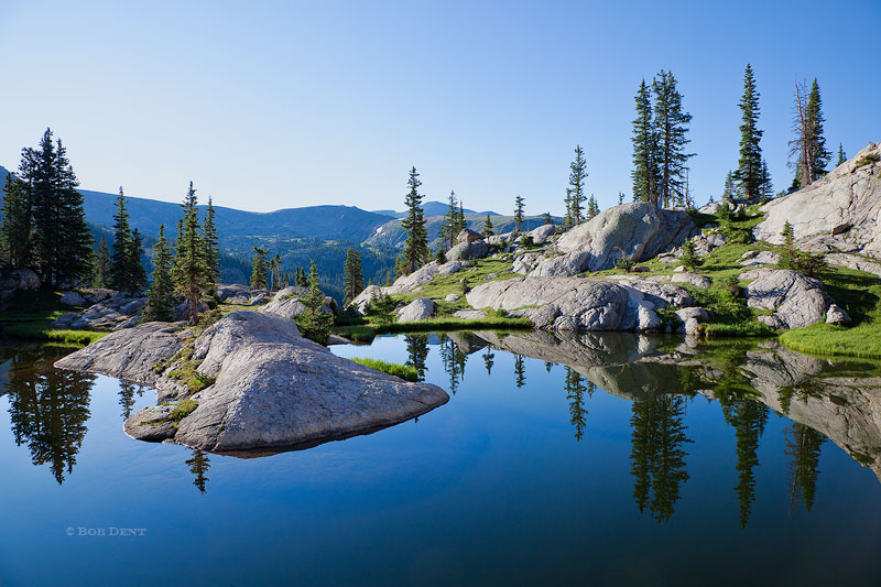 Alpine Pond Reflections