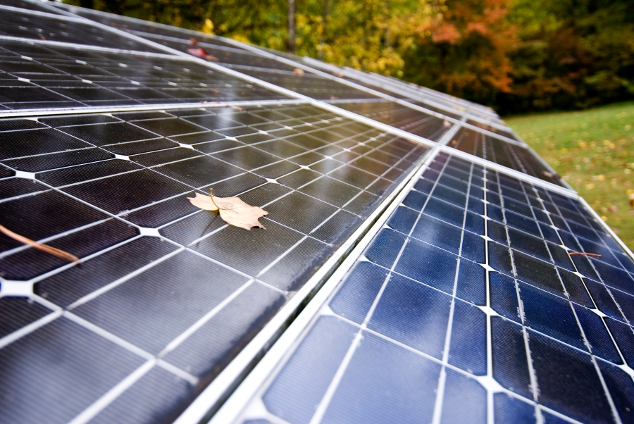 Solar Energy Panels At Work