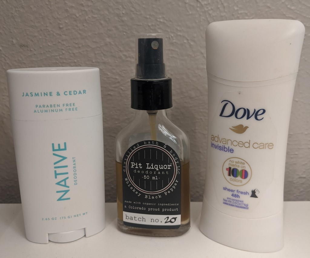 The range of deodorants Kelsie tested in this article.